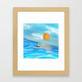 sunny's coming Framed Art Print