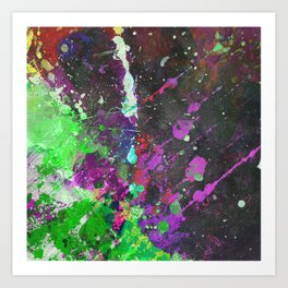 Breakthrough - Multi Coloured Abstract Textured Painting Art Print