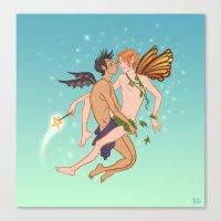 fairies Canvas Prints featuring Fairies by Jessica Fink