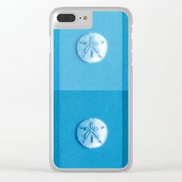 Sand Dollars - multiblues! Clear iPhone Case