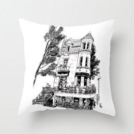 Fantasy of Saint Denis and Roy Throw Pillow