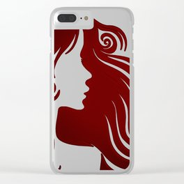 woman silhouette Clear iPhone Case