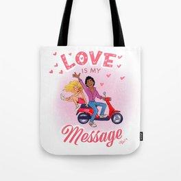 JAM June Love Message Tote Bag