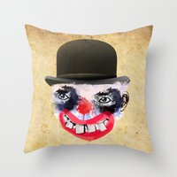 clown Throw Pillows featuring Clown by Ahmet Hacıoğlu