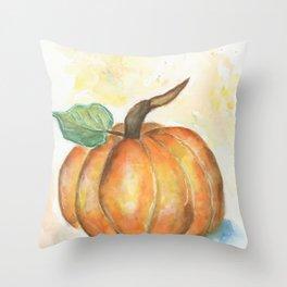 Pumpkin watercolor Throw Pillow
