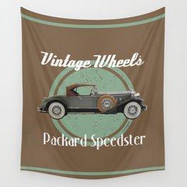 Vintage Wheels - Packard Speedster Wall Tapestry