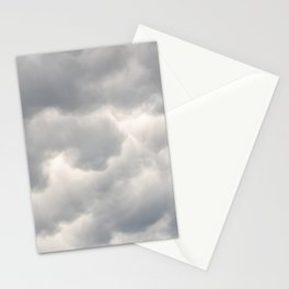 A bunch of rainy clouds Stationery Cards