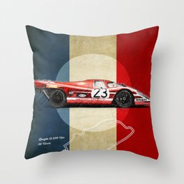 Le Mans Vintage Salzburg Throw Pillow