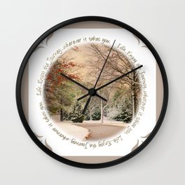 Winter Drive Journey Wall Clock