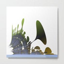 Abstract plants at riverside Metal Print