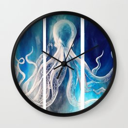 Octopus Tryptic Wall Clock