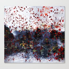 Red Snow Canvas Print