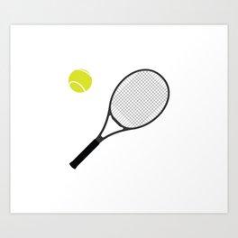Tennis Racket And Ball 1 Art Print