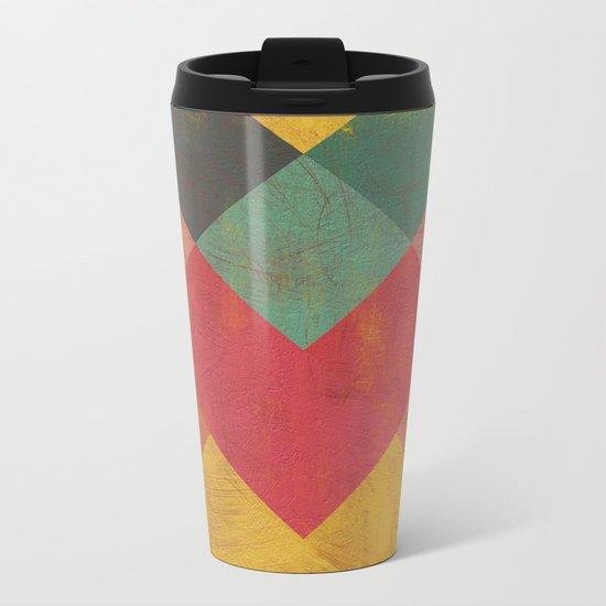 Aztec Vintage Pattern 11 Metal Travel Mug