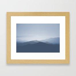 hazy morning blues Framed Art Print