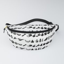 black and white vegetables Fanny Pack