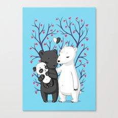 Bear Family Canvas Print