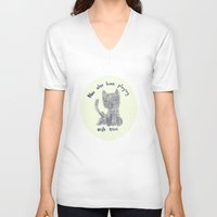 mini V-neck T-shirts featuring mini by miba