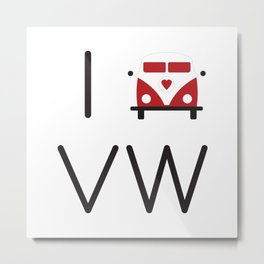 I heart Campervans Metal Print