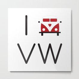 I heart Campervans Metal Print