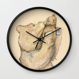 Bear Smooches Wall Clock