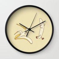 beastie boys Wall Clocks featuring Streaker by Terry Fan