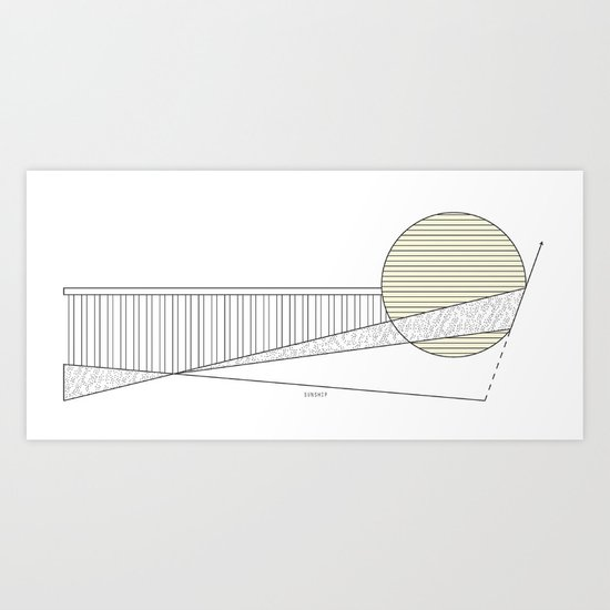 Sunship Art Print