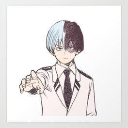 Shoto Todoroki Colorization Art Print
