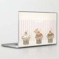 cupcakes Laptop & iPad Skins featuring Cupcakes by Cecilia Sánchez