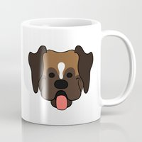 boxer Mugs featuring Boxer by Sugar and Spice Menagerie