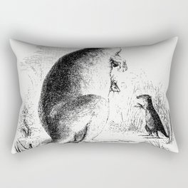 Lord Derbys scaly-tailed squirrel from Voyages et Aventures Dans lAfrique equatoriale (1863) Rectangular Pillow