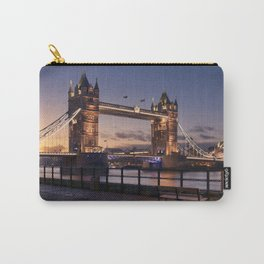 Historic Tower Bridge Thames River London Capital City England United Kingdom Romantic Sunset UHD Carry-All Pouch