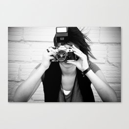 smile you're on canon camera Canvas Print