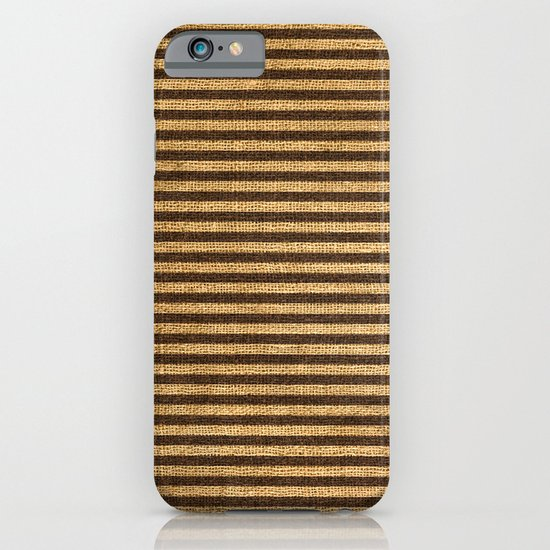 Striped Burlap iPhone & iPod Case