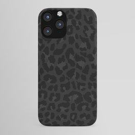 Dark abstract leopard print iPhone Case
