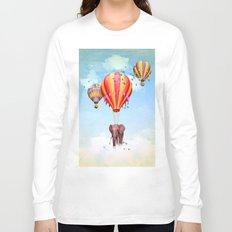 Elephant flying Long Sleeve T-shirt