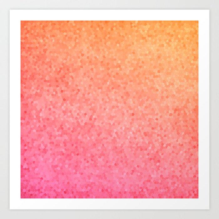 Sea Glass ~ Coral Art Print