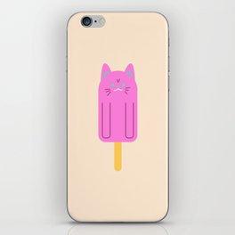 Cool Cat - fun simple cat popsicle illustration iPhone Skin