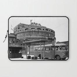 Castel Sant Angelo between past and present B/N Laptop Sleeve