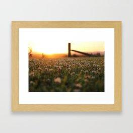 Sunset in Southland Framed Art Print