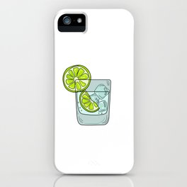 Funny & Relaxing Vodka Tee Design LEMONS AND VODKA iPhone Case