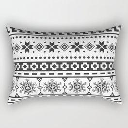 Christmas Ethnic Pattern. Black and white aztec design Rectangular Pillow
