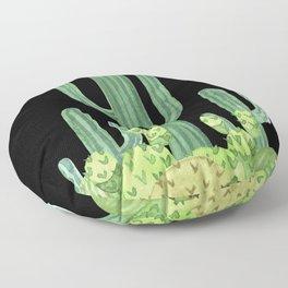 Night Desert Prickly Cactus Bunch Floor Pillow