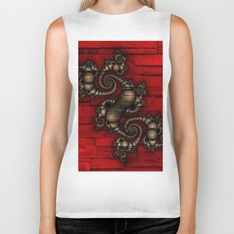 Bronze Walled Fractal Biker Tank