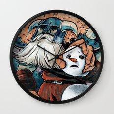 Polar Knight Makes a Friend Wall Clock