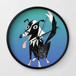 Basic Border Collie Wall Clock