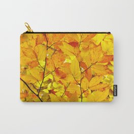 Indian Summer - Yellow Autumn Fall Leaves Carry-All Pouch
