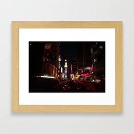 Night on the Town Framed Art Print