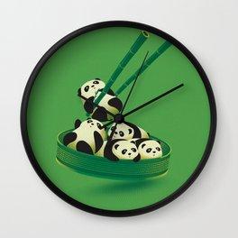 Panda Dumpling Wall Clock