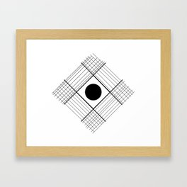Interlaced Lines Framed Art Print